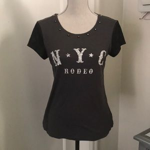 Express NYC Rodeo tee with studs